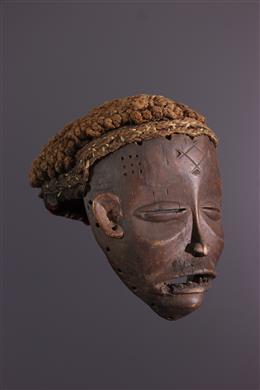 Art africain - Masque féminin Mwana Pwo Chokwe