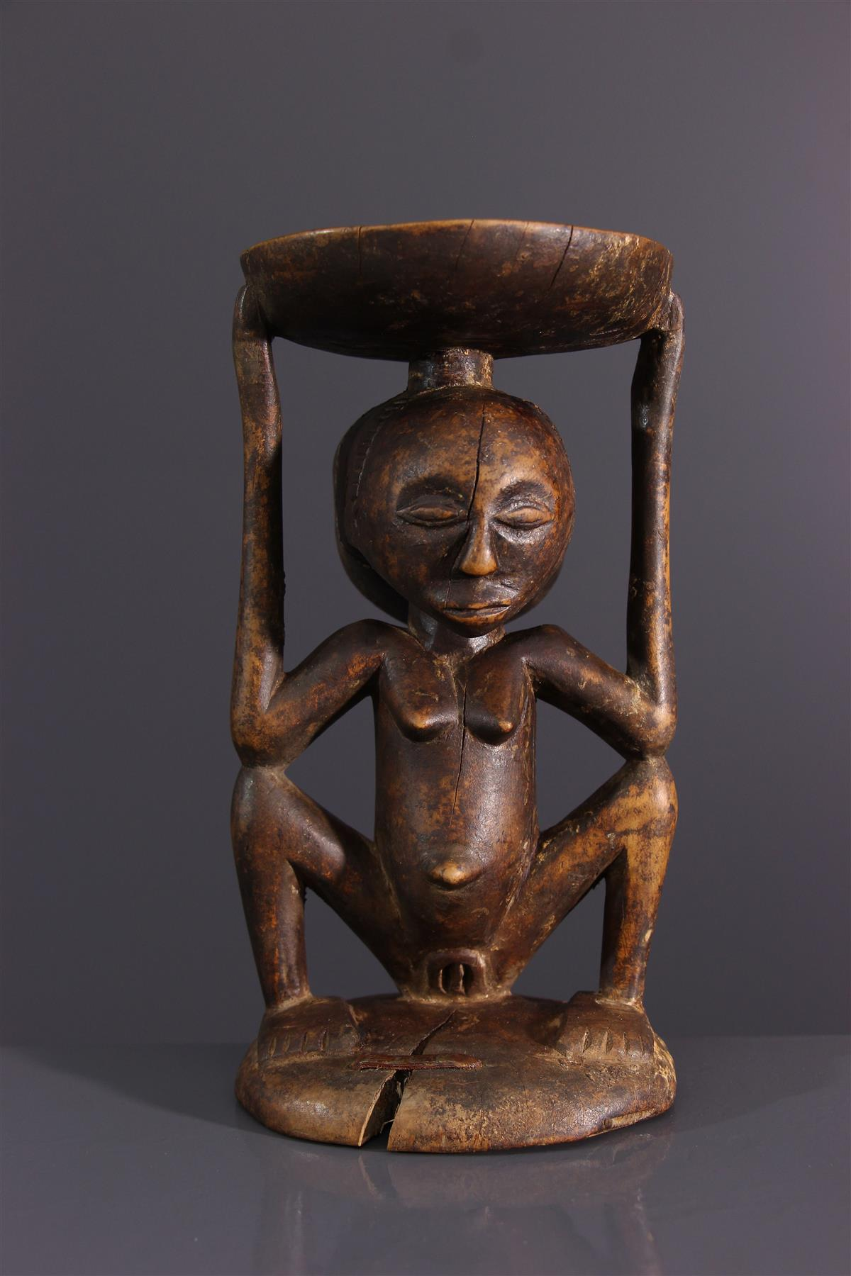 Tabouret Luba Kipona - Art africain