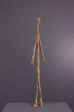 Art africain - Figure Lobi en fer noir