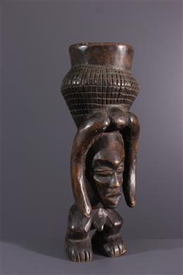 Art africain - Coupe anthropomorphe Kuba Lele