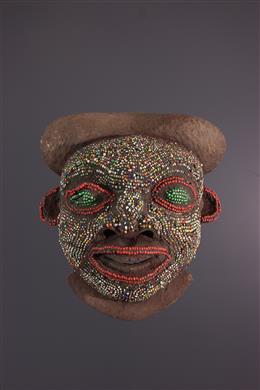 Art africain - Masque perlé des Bamoun