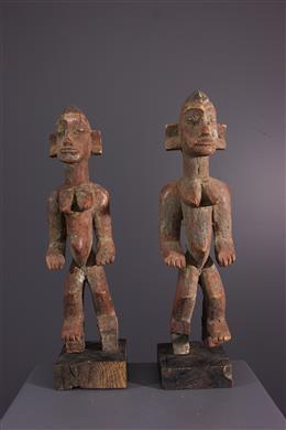 Art africain - Paire de statuettes Senoufo
