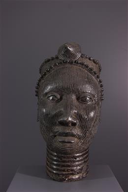 Tête commémorative Ifé en bronze
