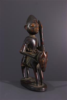 Art africain - Statuette de cavalier Yoruba