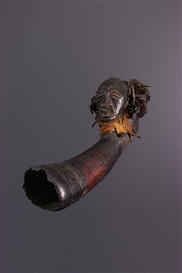 Art africain - Corne Songye bicéphale