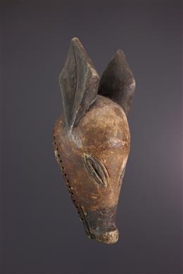 Art africain - Masque animalier Ngulu Chokwe