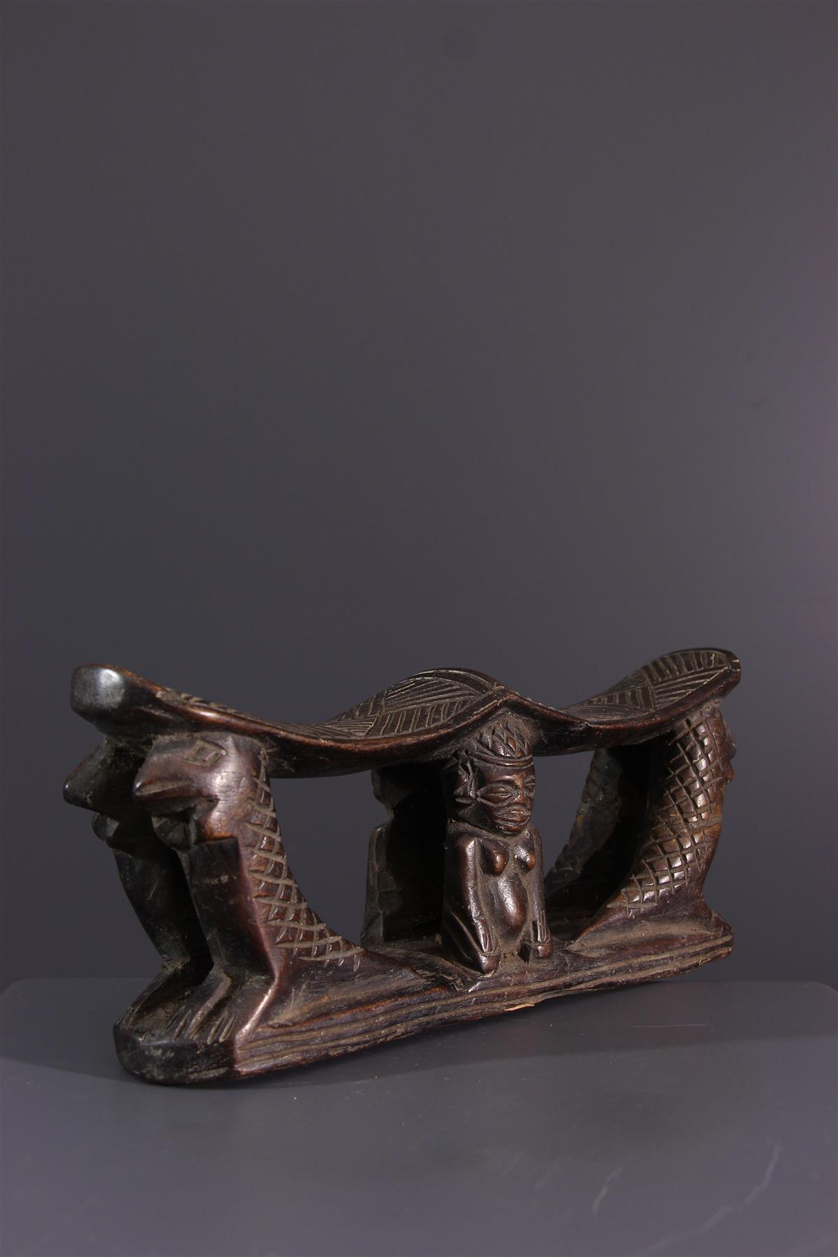 Appuie-nuque Kuba - Art africain