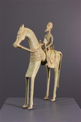 Art africain - Cavalier Dogon et sa monture