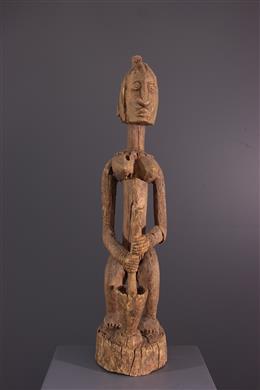 Art africain - Statue pileuse de mil Dogon Tintam