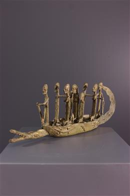 Pirogue Dogon en bronze