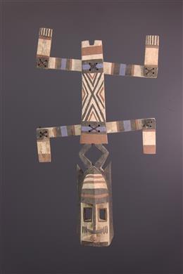Art africain - Masque Dogon Kanaga polychrome
