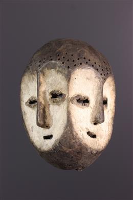 Art africain - Masque Lega biface