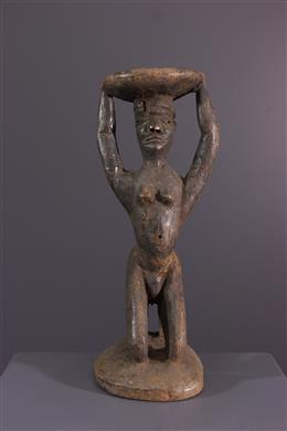 Art africain - Siège à caryatide Pende