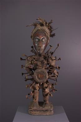 Art africain - Statue Kongo Vili Nkisi Nkondi