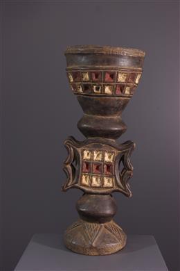 Art africain - Pot à tabac  Chokwe