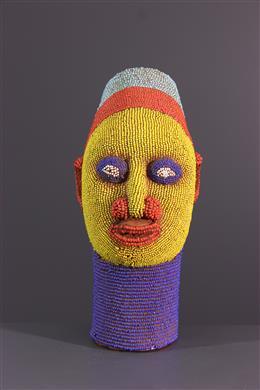 Tête perlée - Art africain