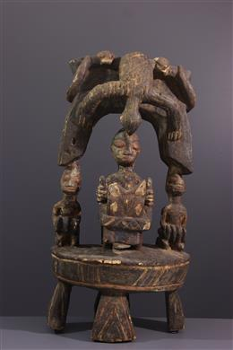 Art africain - Autel avec cavalier Yoruba