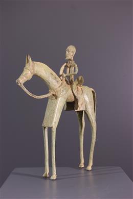 Art africain - Cavalier Dogon en bronze