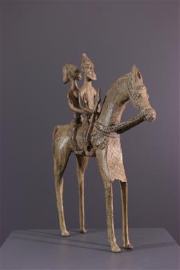 Art africain - Couple de cavaliers Dogon
