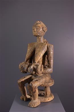 Art africain - Figure de maternité Afo Okeshi
