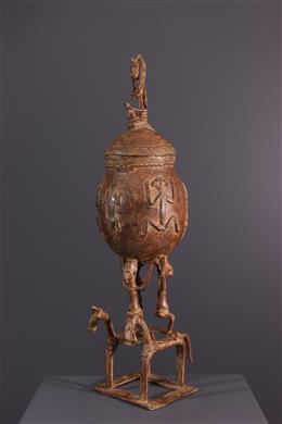 Art africain - Coupe Dogon en bronze