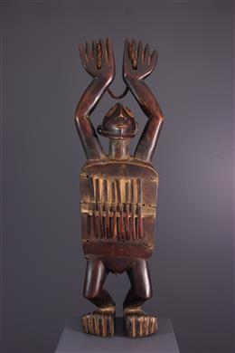 Art africain - Lamellophone figuratif Zande