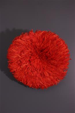 "Art africain - Coiffe à plumes Bamileke ""Juju Hat"""