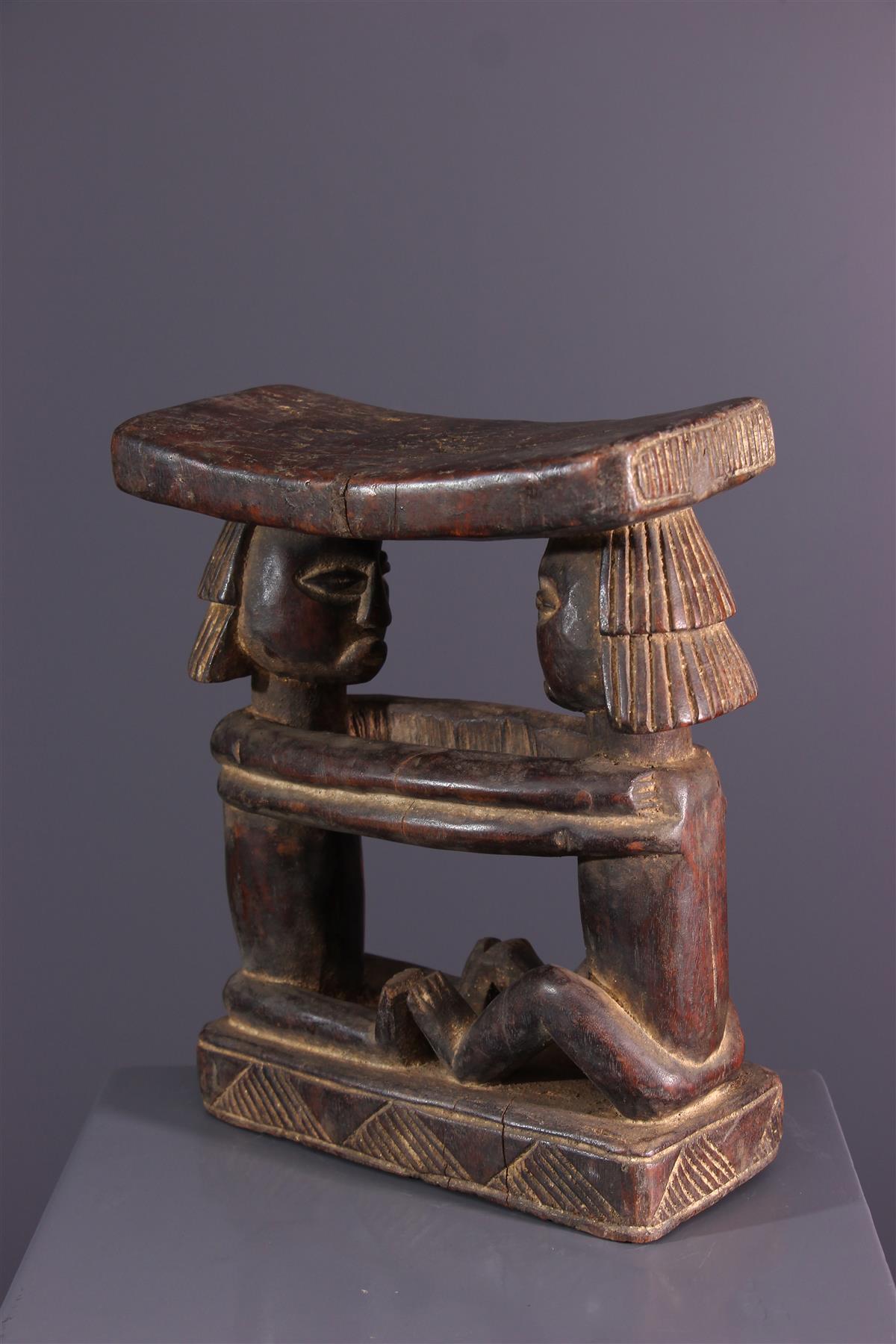 Appuie-nuque Luba - Art africain