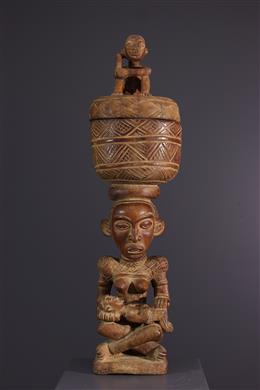 Art africain - Coupe Kongo Yombe à motif Pfemba