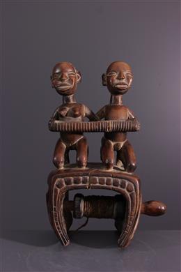 Art africain - Etrier de métier à tisser Kongo