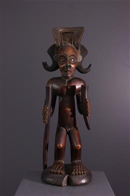 Art africain - Statue dancêtre Chokwe
