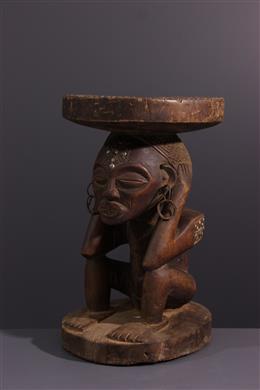 Art africain - Siège à caryatide féminine Chokwe