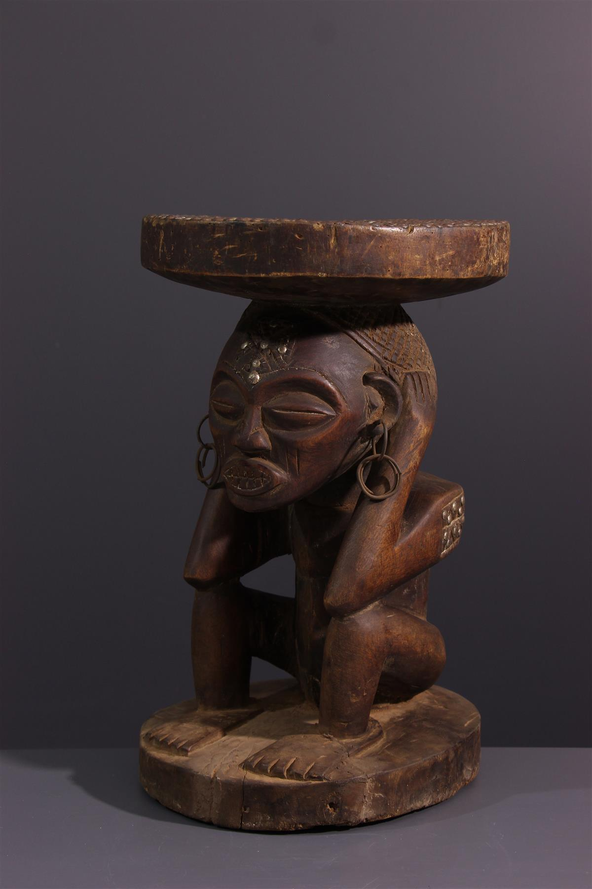 Tabouret Tschokwe - Art africain