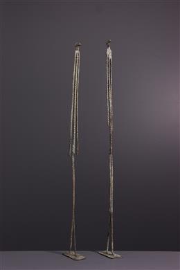 Art africain - Figures du couple primordial Dogon en bronze
