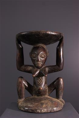 Art africain - Siège Luba / Zula Kipona