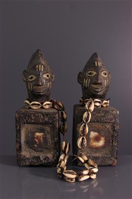 Art africain - Paire de jumeaux Ibeji Yoruba