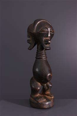 Art africain - Statuette fétiche Songye tricéphale
