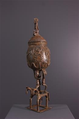 Art africain - Coupe Dogon en bronze