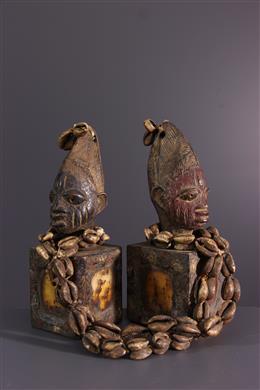 Art africain - Paire de jumeaux Ibedji oracles Yoruba