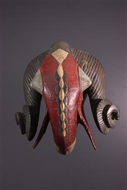 Art africain - Grand masque Baoule bélier