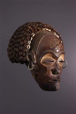 Masque féminin Chokwe Mwana pwo