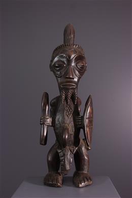 Art africain - Statue de guerrier Bena Lulua