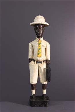 "Statuette ""colon"" Baoule"""