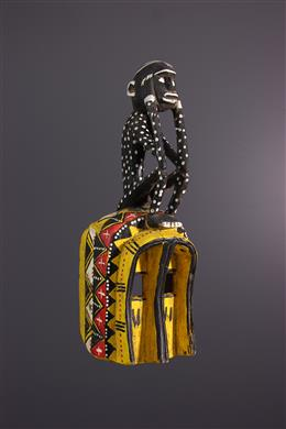 Art africain - Masque singe Dogon polychrome