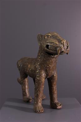 Figure de léopard Bénin en bronze