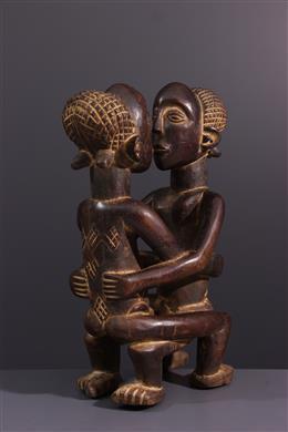 Art africain - Figure de couple Kanyok