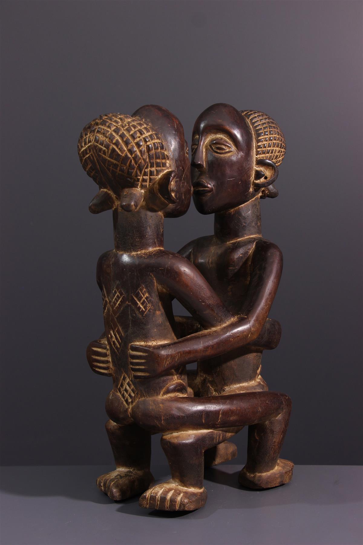 Couple Kanyok - Art africain