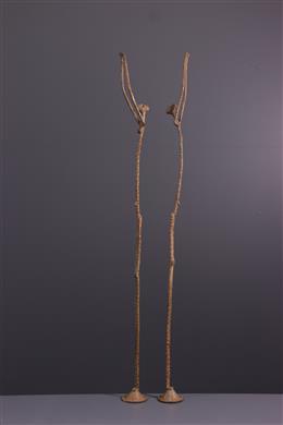 Figure du couple primordial Dogon en bronze