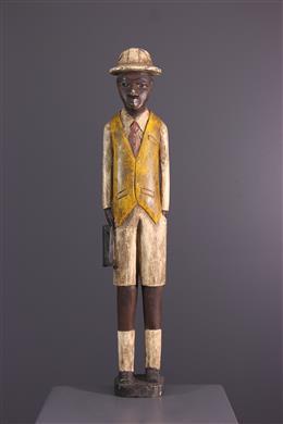 "Figure de ""colon"" africain Baule, Baoulé"