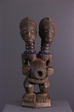 Statue bicéphale Songye Nkishi